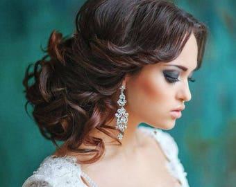 Wedding earrings, Drop Dangle Earring, Wedding Earring, Chandelier Earring, Vintage Long Earring, Bridal Earring, Chandelier Earring