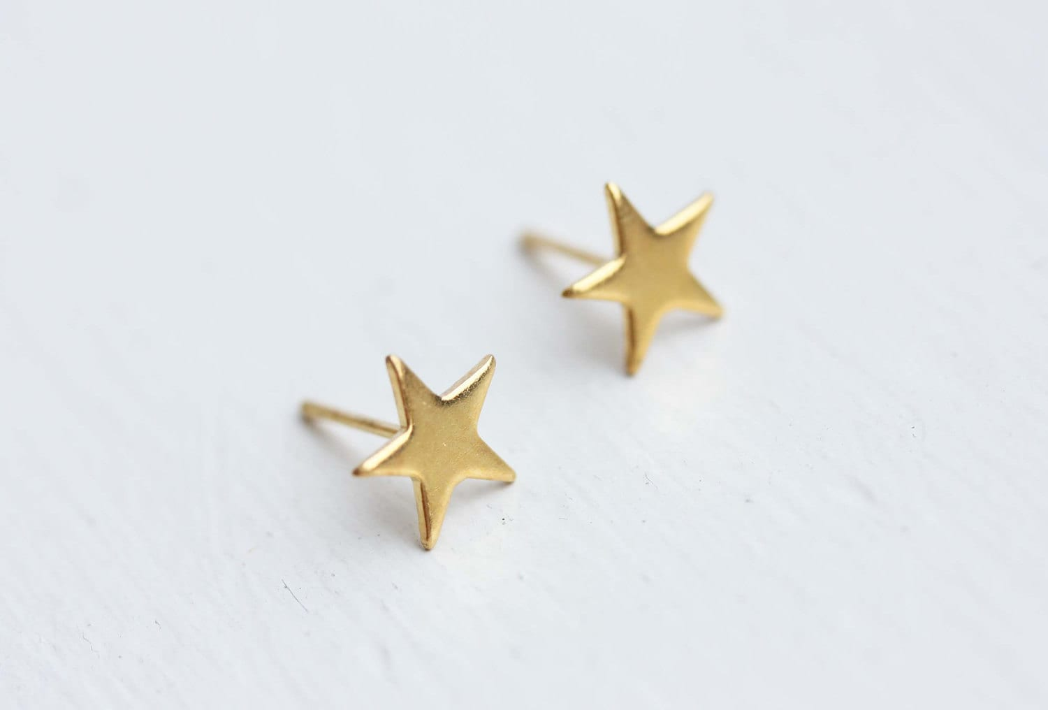 Star Studs Gold Small Star Studs Gold Star Earrings Small