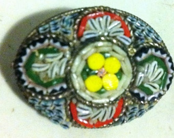 Mosaic brooch from Italy