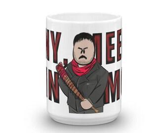Negan, Eeny Meeny Miny Moe, The Walking Dead, TWD Character Coffee Mug