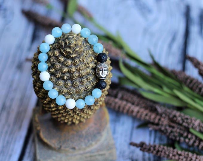 Handcrafted jewelry, Chakra bracelet, diffuser bracelet, Aventurine bracelet