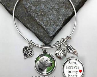 Pet Memorial Charm Bracelet, Forever in my heart, Photo Memorial Bracelet, Memorial Charm Bracelet, Pet Photo Bracelet, dog bracelet