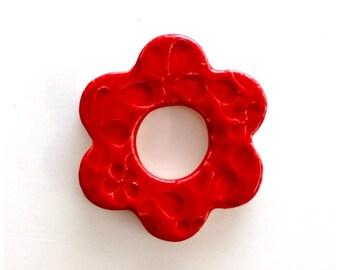 ADORABLE RED Flower Tile