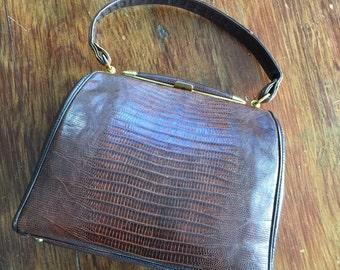 Snake Skin Leather Vintage Purse