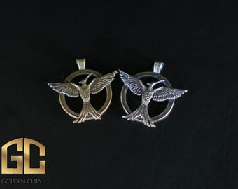 Hunger Games Mockingai Katniss Pendant Silver Cosplay