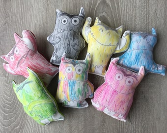 The colour monster / set of 7 handmade softies to use with the book about emotions and feelings