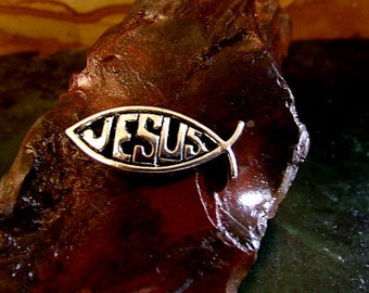 Jesus Christ Tie Tack Sterling Silver Free Domestic Shipping