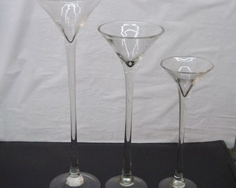 Tall Martini Glass Vases Wedding Centerpiece