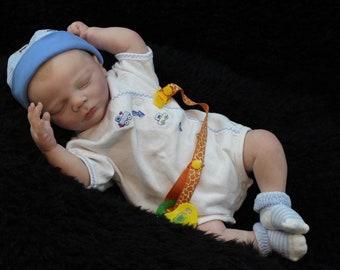 Reborn baby , Realborn Sleeping charles , cut mouth , no waiting ,ready to ship!