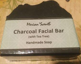 Handmade Soap...Charcoal Facial Bar