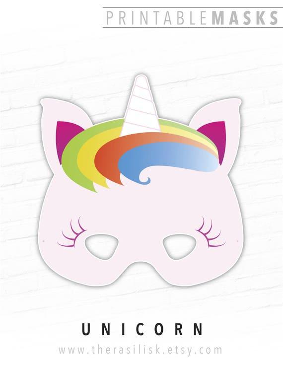 This is an image of Selective Unicorn Mask Printable