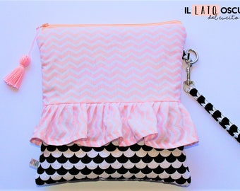 Zippered clutch Bag