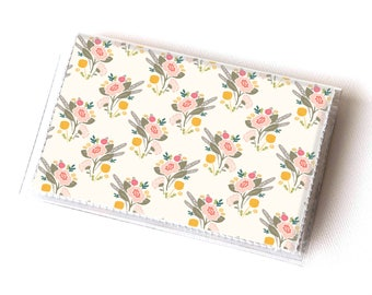 Vinyl Card Holder - Flora Bouquet / vegan, floral, flowers, summer, card case, vinyl wallet, women's wallet, small wallet, gift, spring