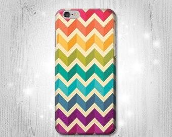 Rainbow Colorful Shavron Zig Zag Case iPhone X 8 8 Plus 7 6 5 SE Samsung Galaxy S8 S8+ S7 Edge S6 S5 Note J7 J3 A5 Asus Google Pixel HTC
