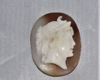 """Vintage unmounted shell cameo 1 3/16"""" X7/8"""""""