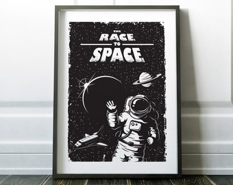 Wall Art, Space Poster, Space Wall Art, Prints, Wall Art Print, Space Print, Fine Art Print, Black and White Art, Wall Art for Men, Poster