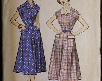 Vintage 50s Womens Dress Pattern Advance 5780 Sz 20