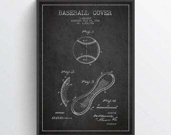 1924 Baseball Cover Patent Wall Art Poster, Baseball Print, Baseball Art Print, Baseball Decor, Home Decor, Gift Idea, SPBA07P