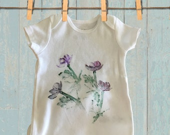 "Looney Moon Art ""Fanciful Flowers"" Children's Onesie"