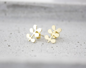 Branch - gold plated ear studs B41