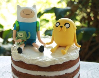BMO Adventure Time Finn and Jake and BMO Personalised Handmade. Fully customizable.  Finn the human and Jake the dog.  Made to order