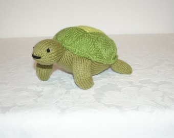 Lovely hand knitted sea turtle by Liz