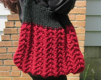 Tote Bag Knitting Pattern, Knit Purse Pattern, Market Bag Pattern, Knit Tote Bag Pattern, Knit Shopping Bag Pattern, Project Bag Pattern