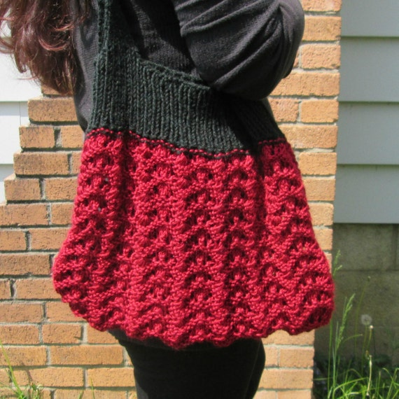 Tote Bag Knitting Pattern Knit Purse Pattern Market Bag