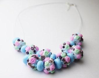 Pastel Floral Necklace
