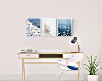 nautical photography, coastal wall art photos, set of 3 coastal prints, nautical bedroom art, beach photography prints, gallery wall prints