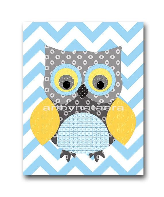 Owl Decor Owl Nursery Baby Boy Nursery Art Nursery Wall Art
