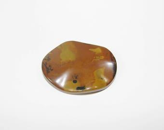 1 Pearl, Jasper artistic Brown puck 40.00 30.00 mm, sold individually. (9791031)