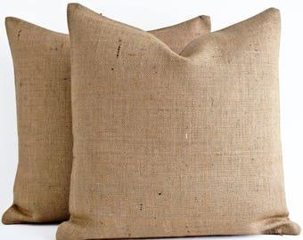 Wholesale! Burlap pillow covers burlap throw pillows burlap cushion jute pillows plain burlap pillow decorative pillow beachy pillow covers