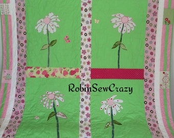 Baby clothes daisy quilt