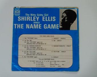 "Shirley Ellis - The Name Game - 45 Single Record - Pop Soul - ""Whisper to Me Wind"" - Congress CG 230 - Vintage Juke Box Record"