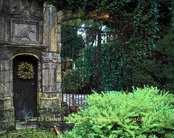Pixelated Garden Gate (10x8)