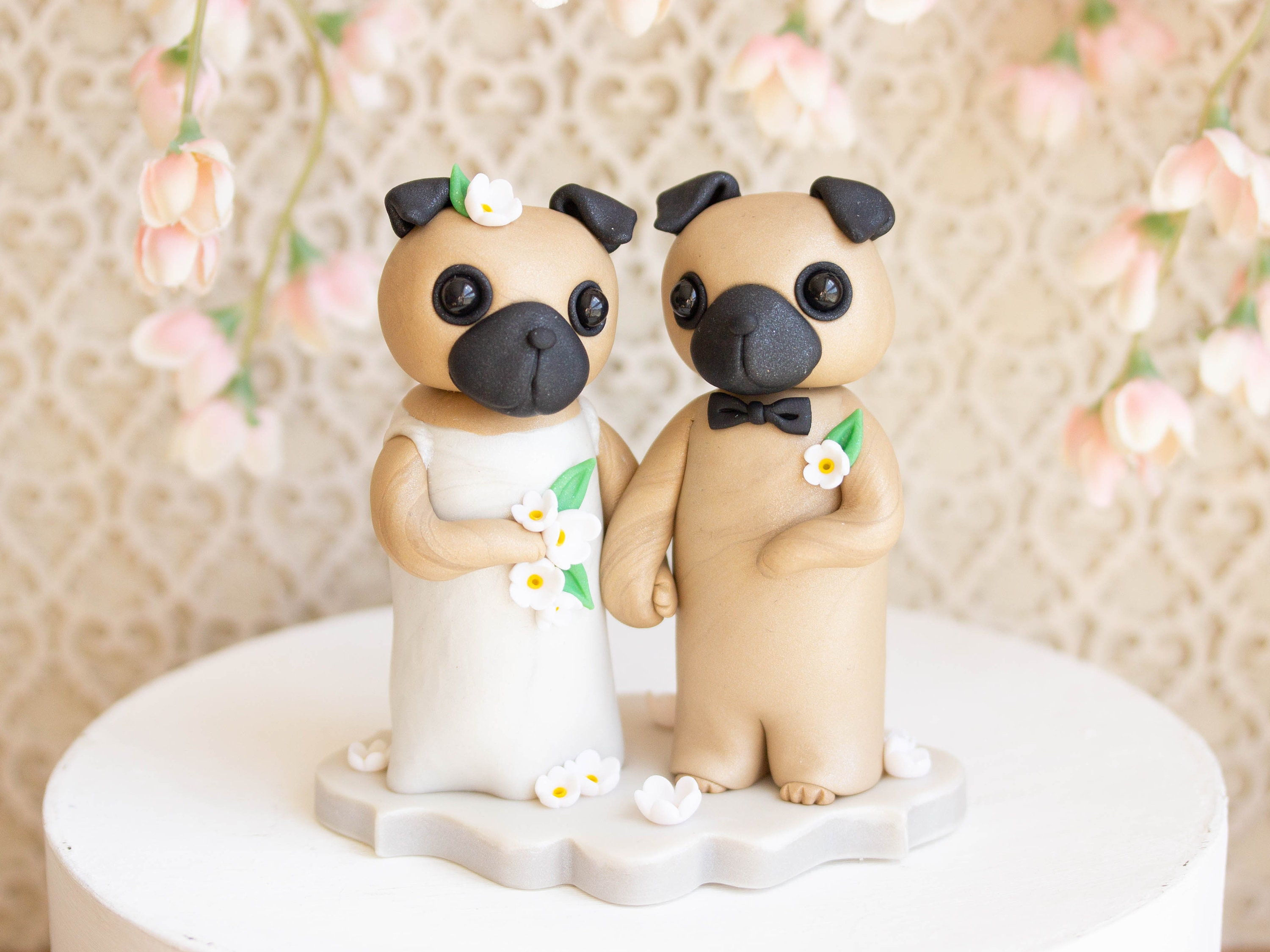 Pug Wedding Cake Topper By Bonjour Poupette Imagez Co