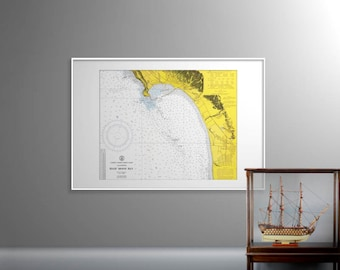 Half Moon Bay, California – Old Map of Half Moon Bay – Mavericks Beach, Poplar Beach, Fitzgerald, Pillar Point Harbor, Princeton California