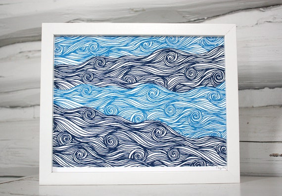 Waves Pattern Print