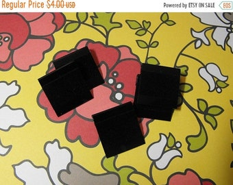 TAX SEASON Stock up 50 Pack Black Velour 1x1 Inch Hanging Blank Plastic Earring Cards