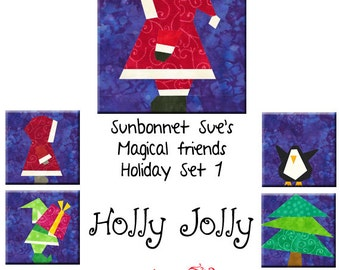 Holly Jolly - Five Festive Patterns To Paper Piece