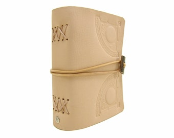 Leather book  - soft OX Circle Nature - A6 - 400 pages - diary of Vicky's World