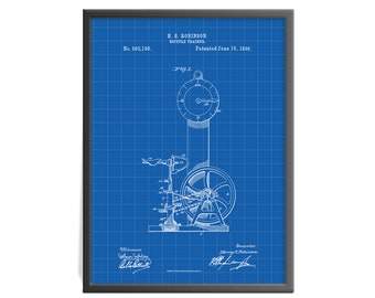 Bicycle Trainer - Bicycle Trainer Patent Art Print - Bicycle Patent Print - Exercise Equipment Patent Art Print - Gymnasium Art Print