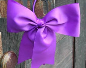 Purple Ponytail Bow