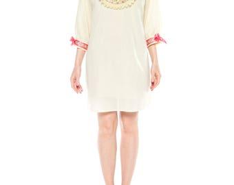 1960s Gucci Inspired Babydoll Shirt Dress Size: 8