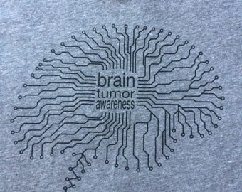 Brain Tumor Awareness Tshirt - Go Grey