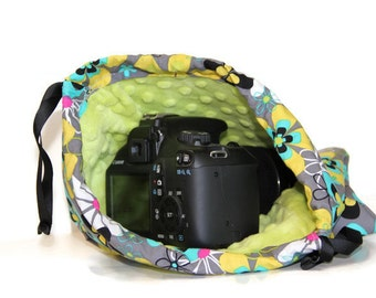 dSLR camera Drop in Bag  Gift for Photographer NiKon CaNon Sony