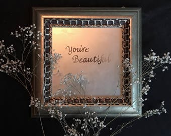 Small Etched Mirror