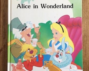 Vintage Alice in Wonderland Book 1986 Walt Disney
