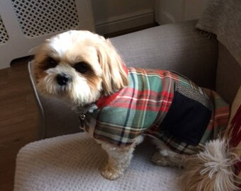 One of a Kind Tartan Reversible Dog Coat